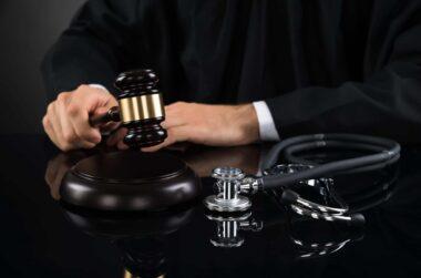 judge gavel stethoscope