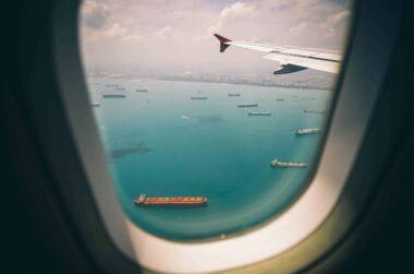 aircraft airplane blue 219014