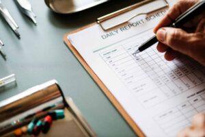 Blog checking checklist daily report 1001752