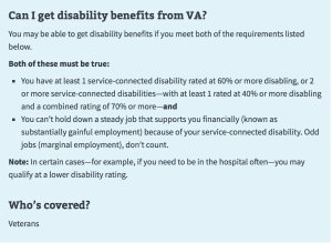Service-connected Veteran benefits Screen Shot 2019 01 04 at 2.16.04 PM
