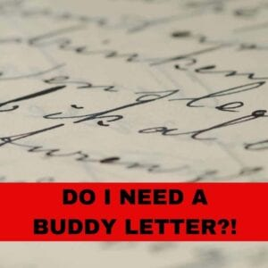 Blog DO I NEED A BUDDY LETTER