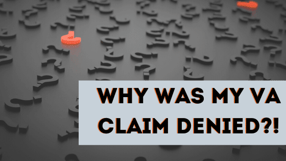 20 Reasons Why Your VA Claim Was DENIED! Add a heading