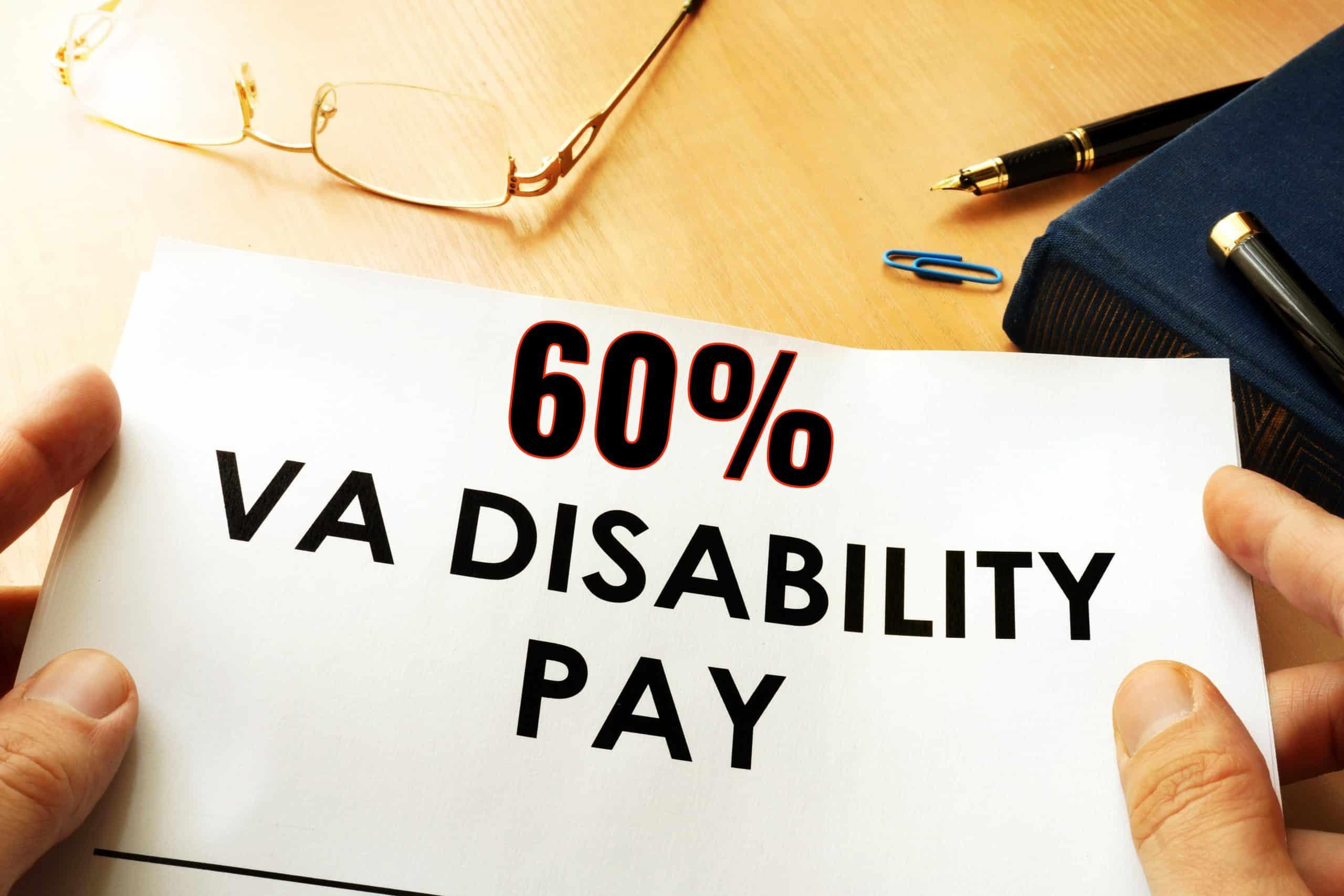 60 VA Disability Pay