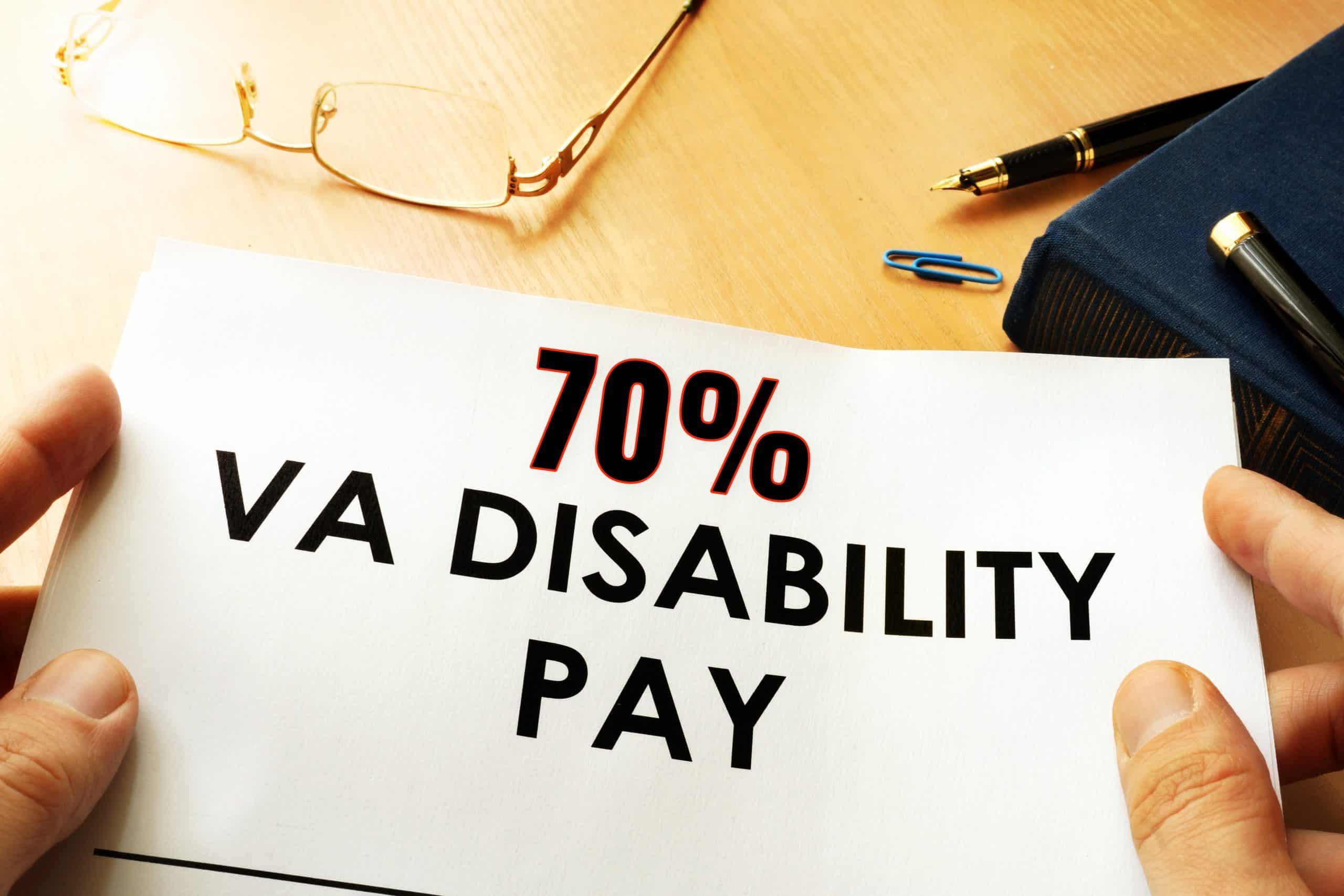 70 VA Disability Pay