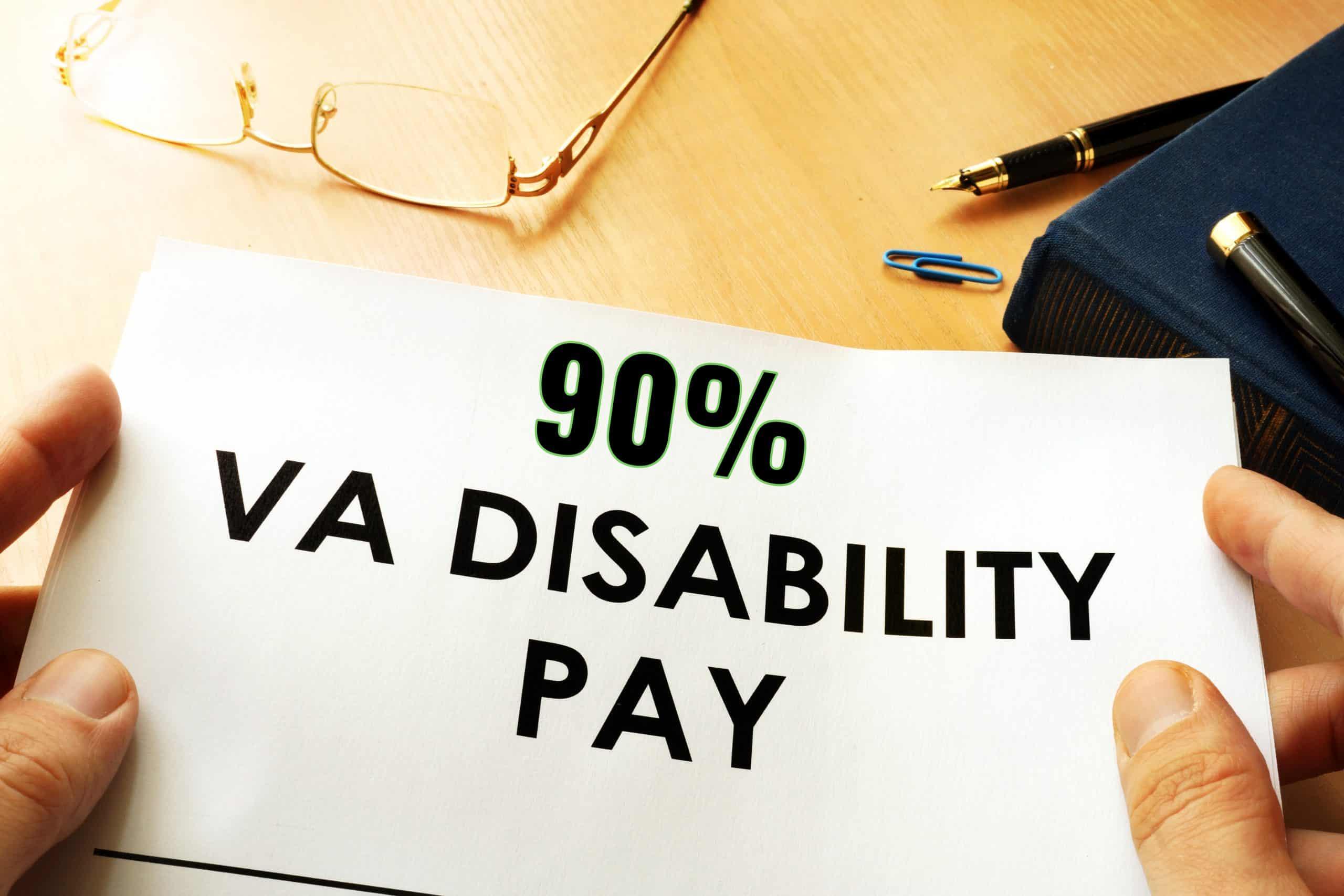 90 VA Disability Pay