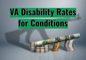 VA Disability Rates for Conditions