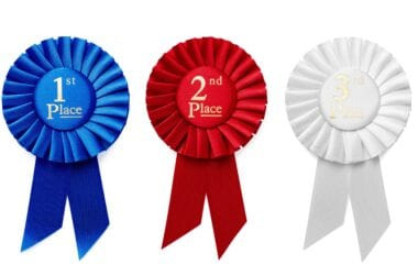 1st 2nd and 3rd place ribbon rosettes QHB6C6M scaled