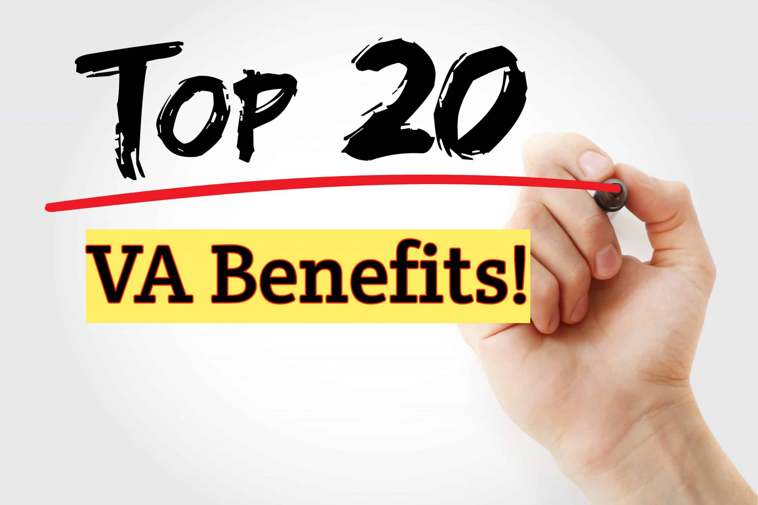 Top 20 VA Benefits for Veterans 40 Disabled