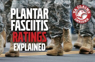 VA Ratings for Plantar Fasciitis min