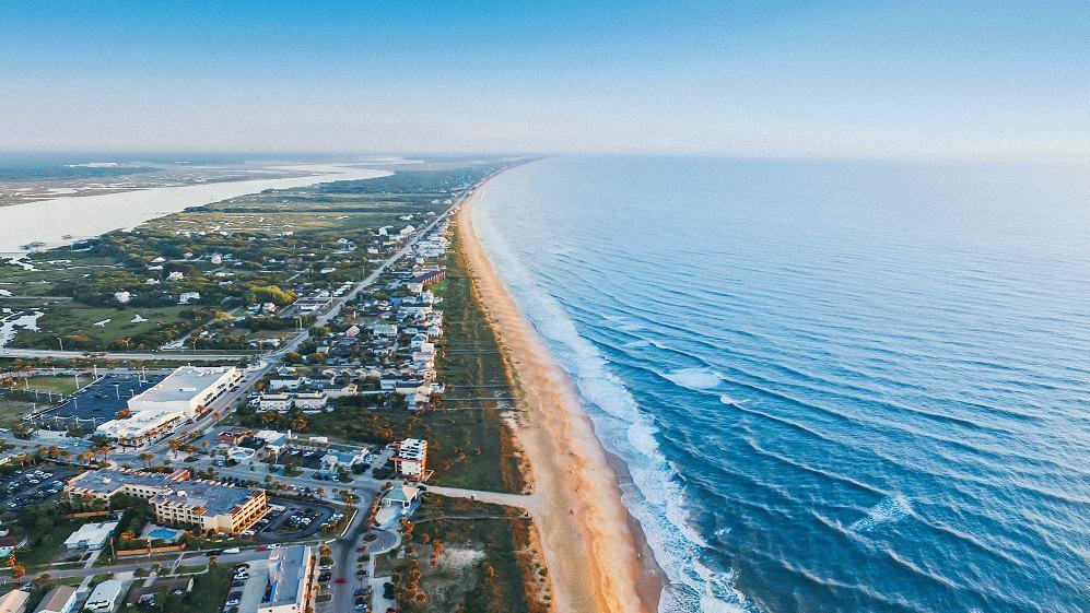 Florida military life includes miles of beautiful coastline.