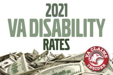 2021 VA Disability Rates min