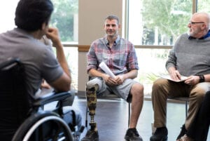 Veterans in crisis can benefit from support groups.