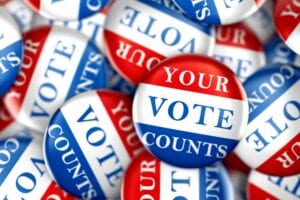 Blog your vote counts buttons