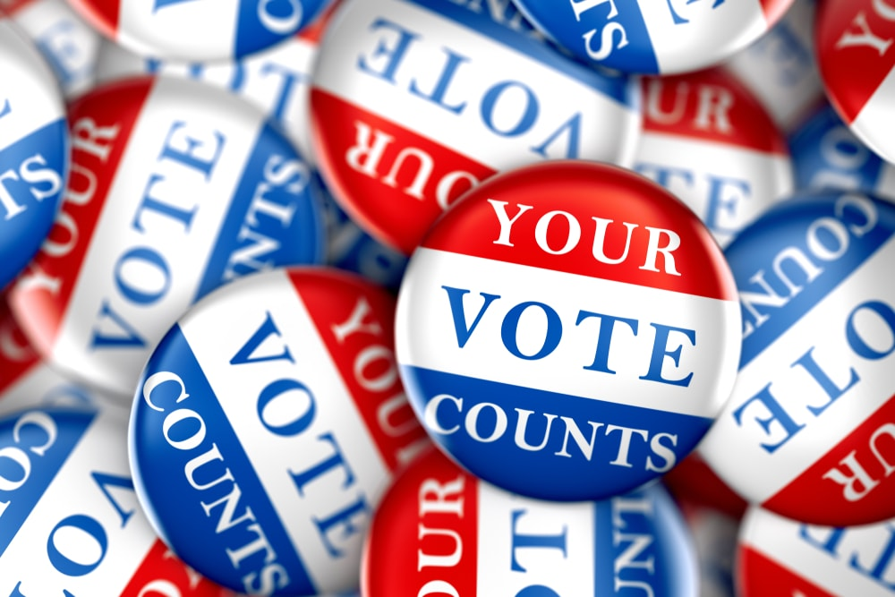 Top 10 Mail-In Voting Tips for the 2020 Election your vote counts buttons