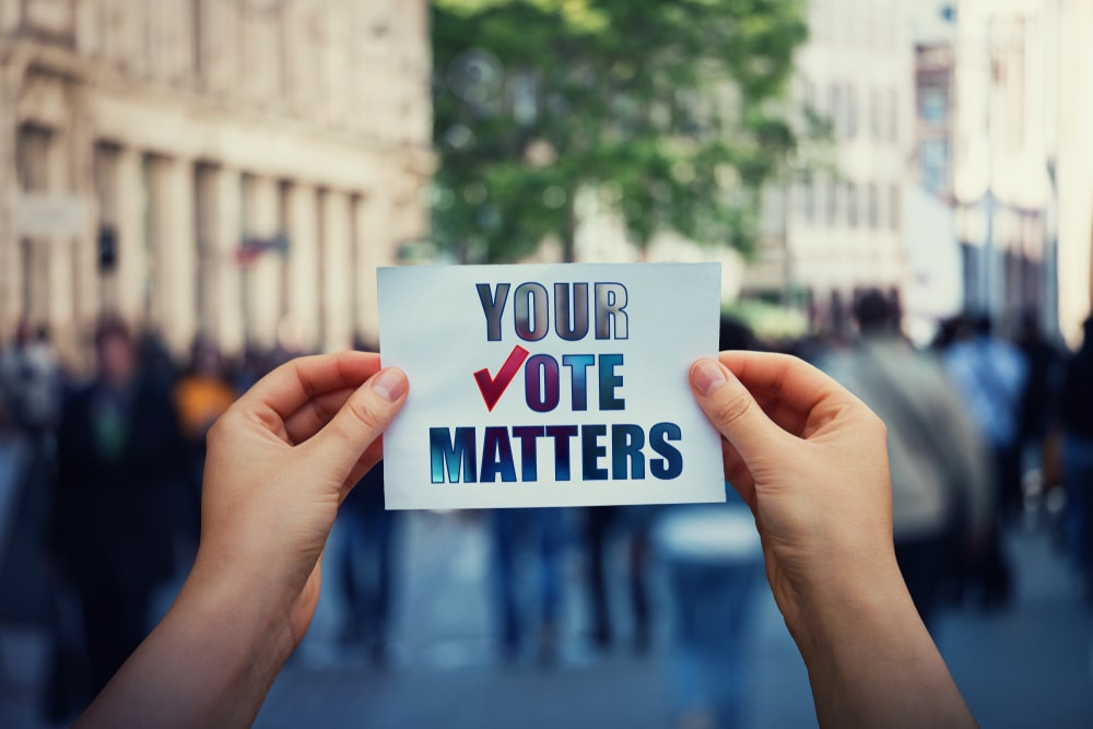 Whether you vote in person or use mail-in voting, your vote matters.