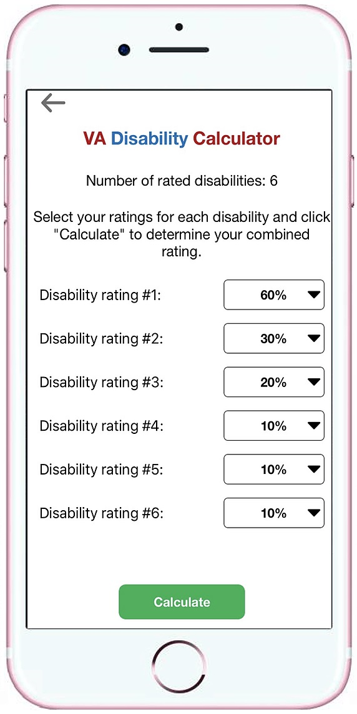 va rates calculator