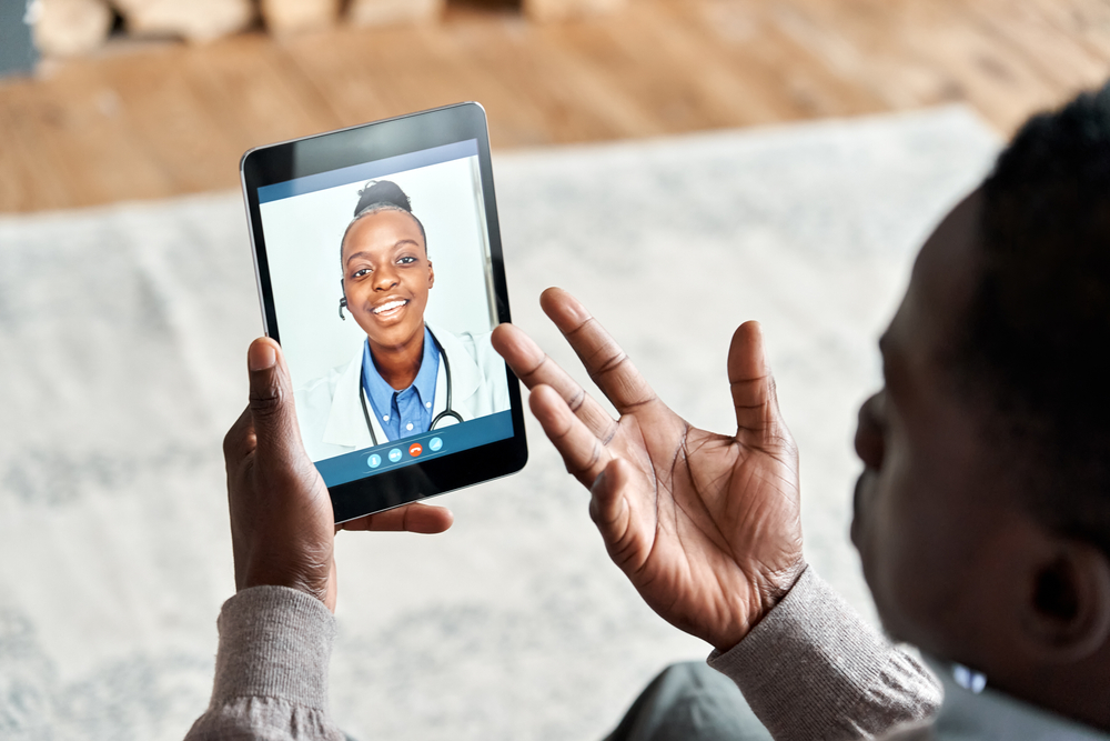 veteran speaks with a doctor from one of the leading telehealth companies