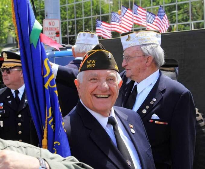 Proud Veteran smiles at camera