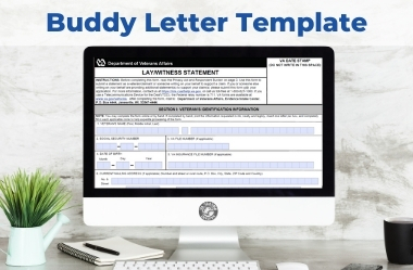 Fillable VA Buddy Letter Template for Veterans Free eBook Feature Resource Image 1