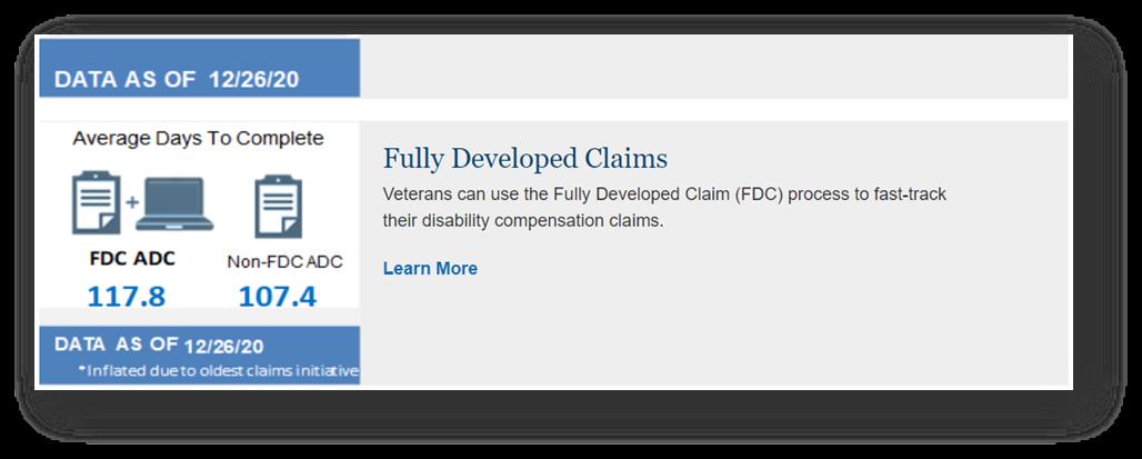 Fully Developed Claim versus Standard Claim