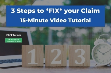 How to FIX Your VA CLAIM in 3 Simple Steps 15 Minute Video Tutorial Feature Resource Image 1