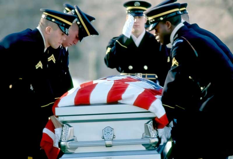 Military funeral A.Manrique.1989.Arlington.VA .X
