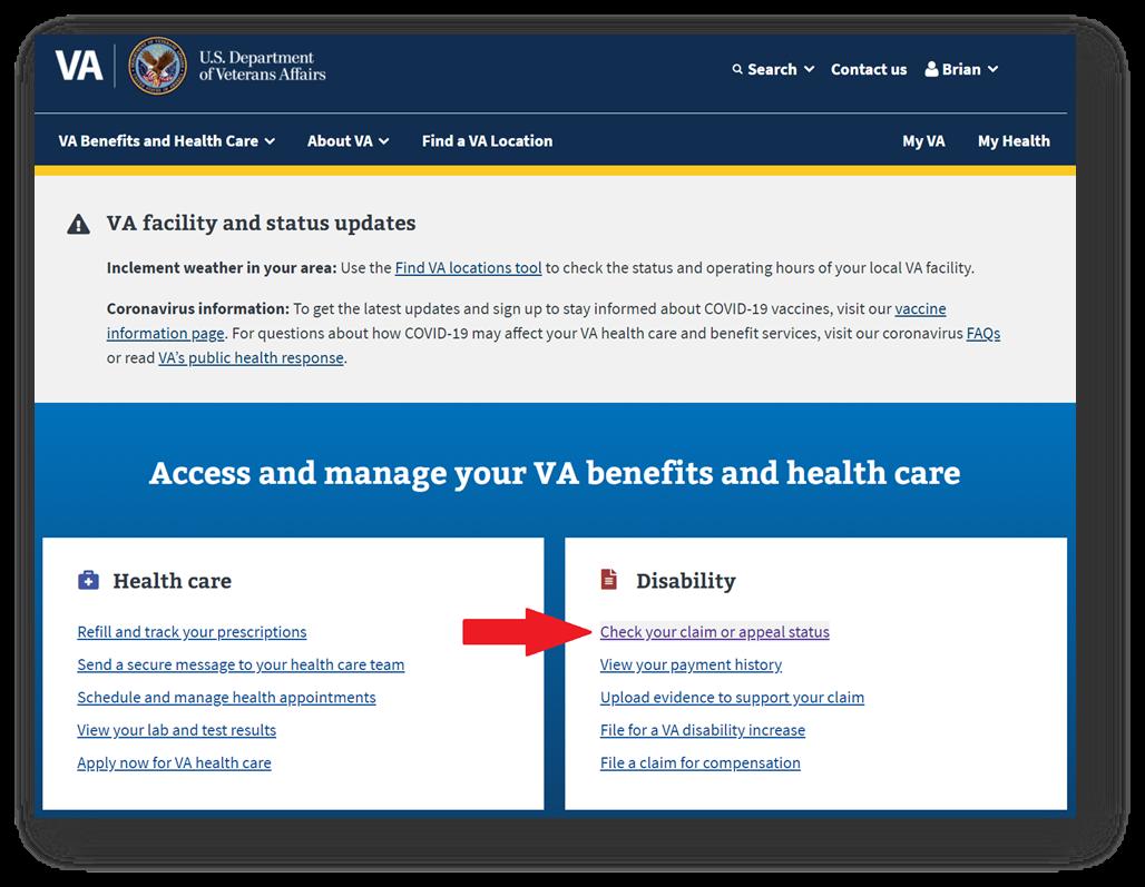 Check VA Claim Status