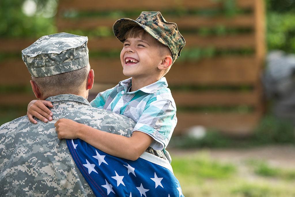 veteran child support