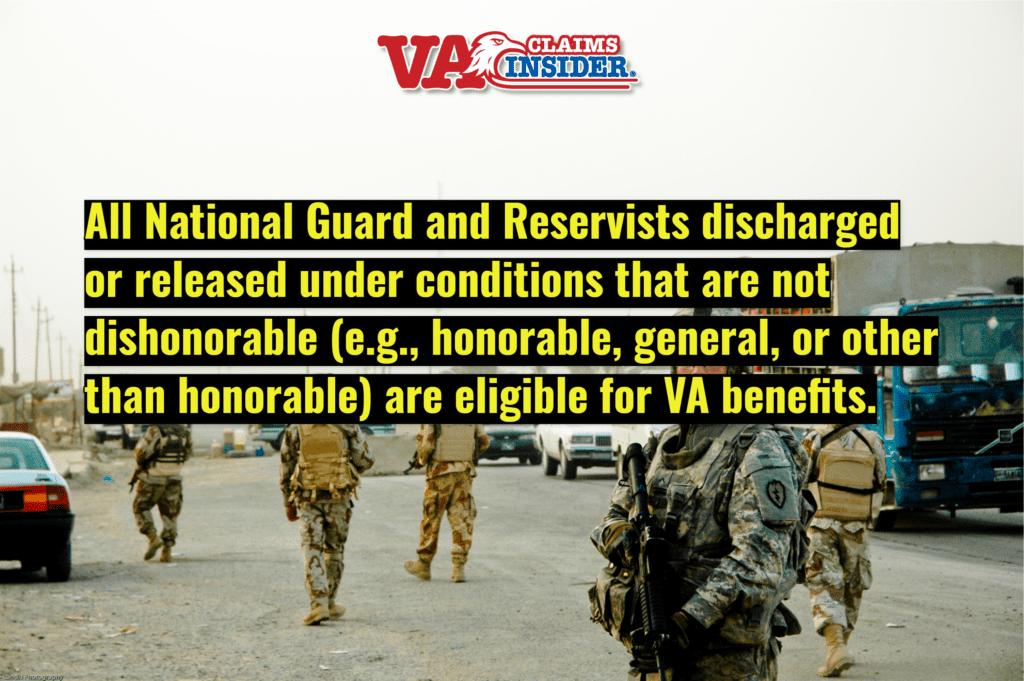 National Guard and Reservists Can Get VA Benefits