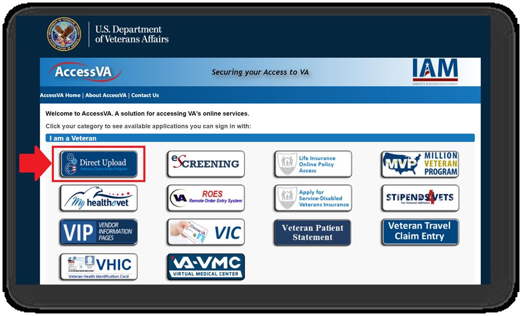 VA Direct Upload Website