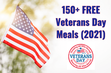 Veterans Day Free Meals 2021