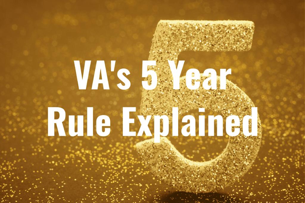 VA Disability 5 Year Rule