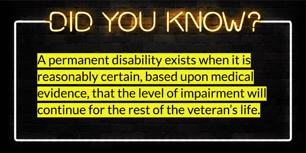 VA Permanent Disability Definition
